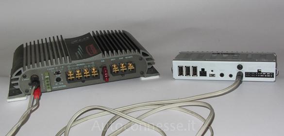 Collegare amplificatore per auto in casa